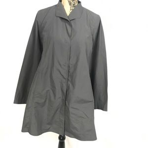 Eileen Fisher Charcoal Grey Organic Cotton Trench